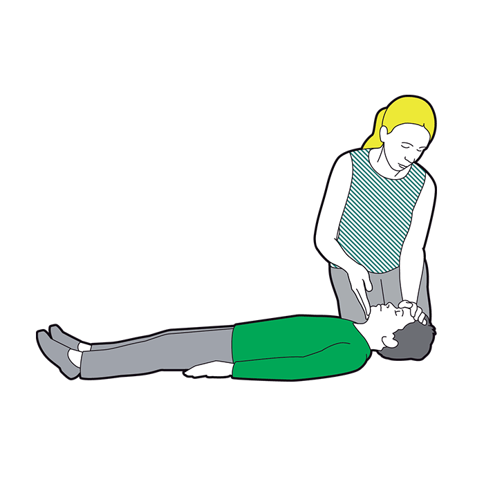 Child CPR - gently lift the chin and tilt the head back