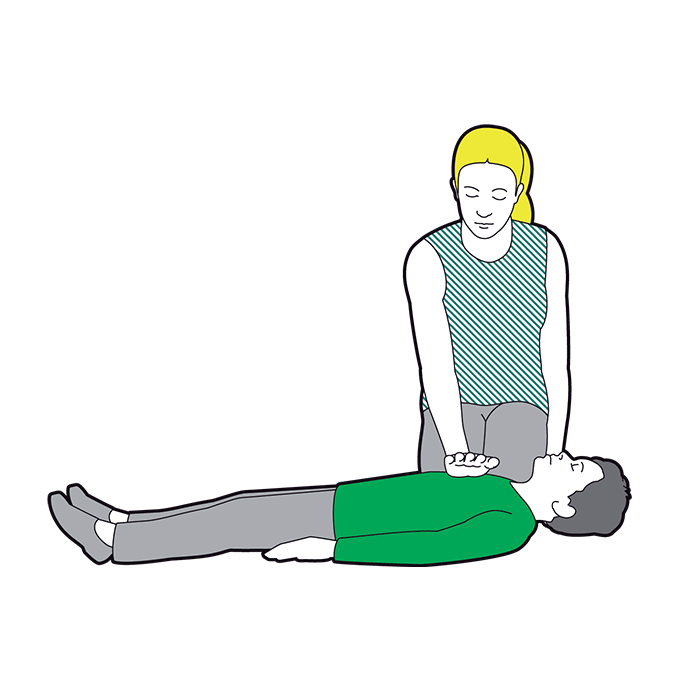 Child CPR - give 30 chest compressions