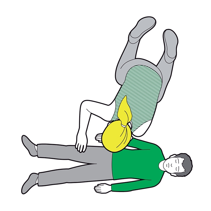 Child recovery position - straighten their legs