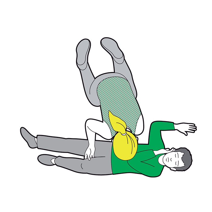 Child recovery position - bend far knee