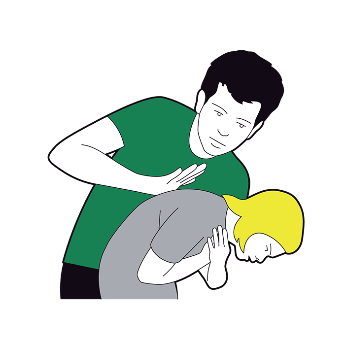 Child choking first aid - give five back blows