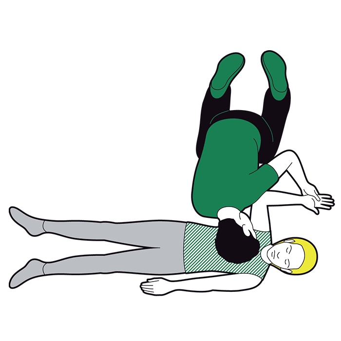 Adult recovery position - place arm nearest to you at a right angle to their body