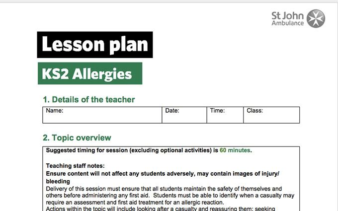 KS2-allergies-lessonplan