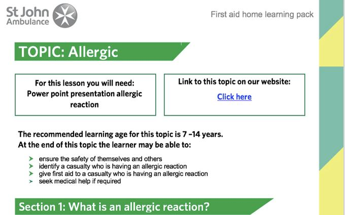 KS2_allergies_home_learning_pack