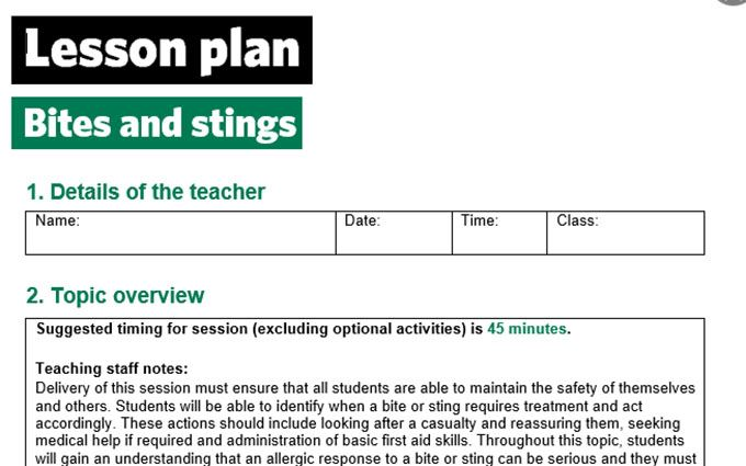 KS2-Bites and stings-Lesson plan