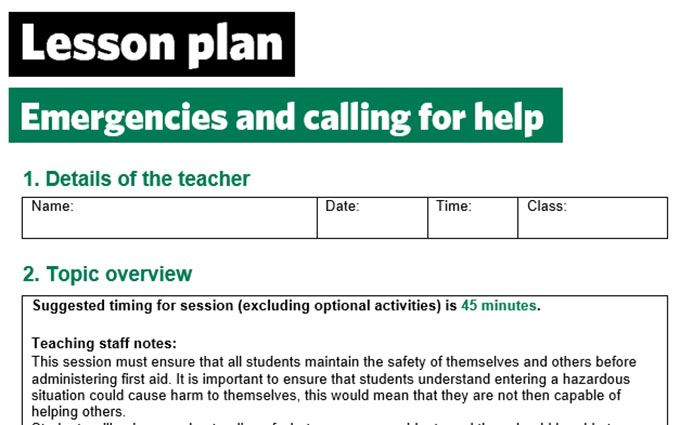 KS2-Emergencies and calling for help-lesson plan