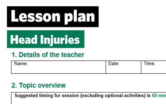 KS2-Head injuries-lesson plan