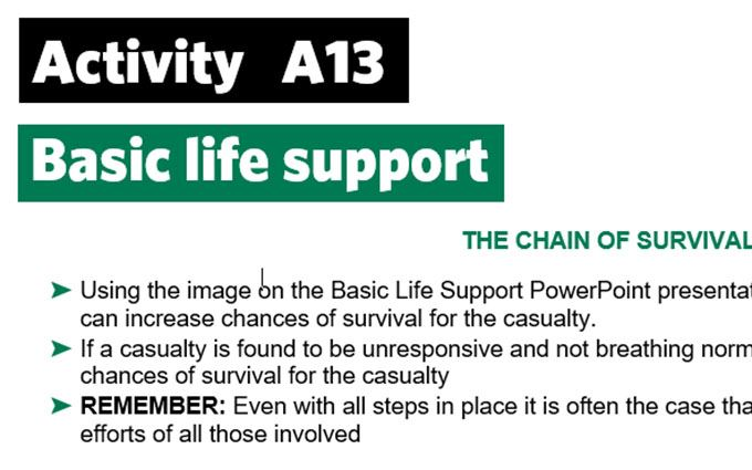 KS3-A13-Chain of survival