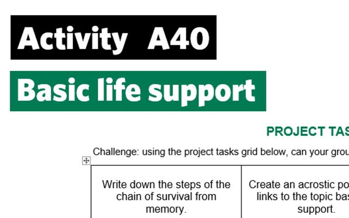 KS3-A40-Project tasks