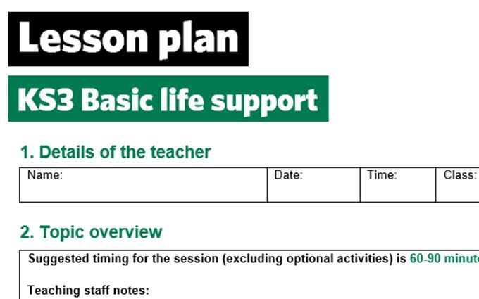 KS3-basic life support-lesson plan