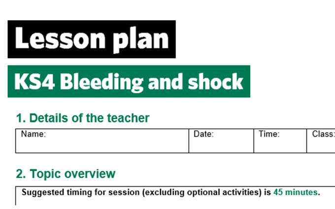 KS4-Bleeding and shock-lesson plan