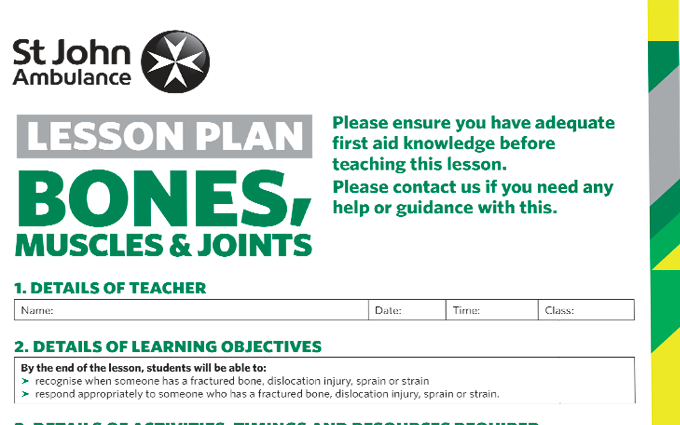 Bones, Muscles, and Joint Injuries lesson plan image