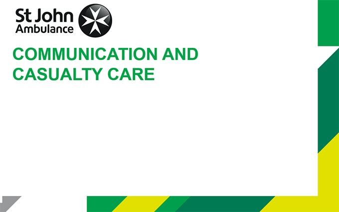 Communication and Casualty Care lesson plan image