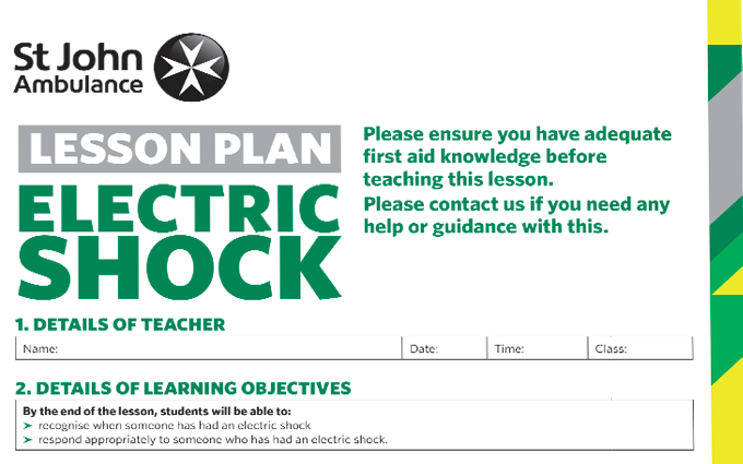 Electric Shock lesson plan image