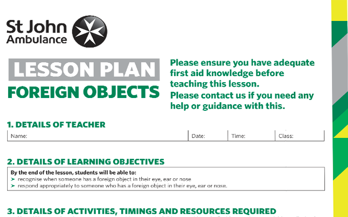 Foreign Objects lesson plan image