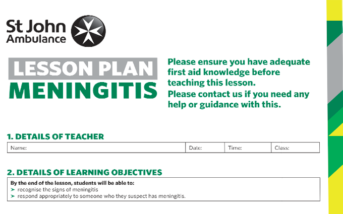 Meningitis lesson plan image