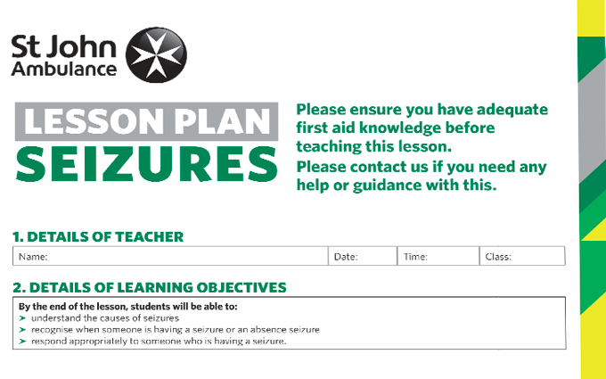 Seizures lesson plan image
