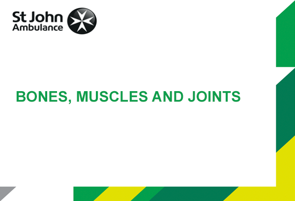 Bone, Muscle and Joint Injury presentation