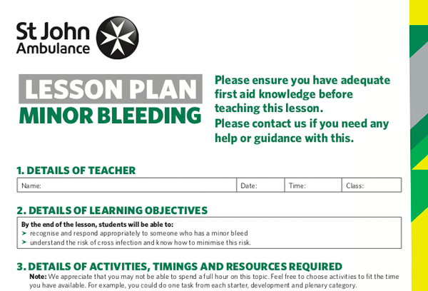 lesson-plans-for-minor-bleeding-first-aid