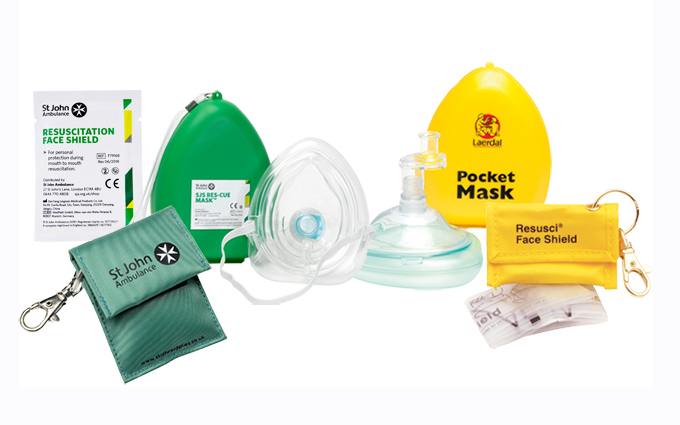 CPR masks and face shields