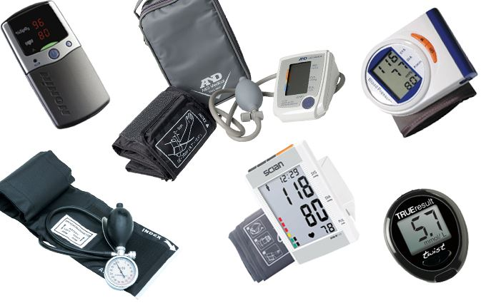 Blood pressure monitors and oximeters