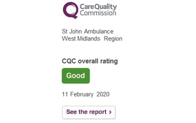 CQC rating West Midlands