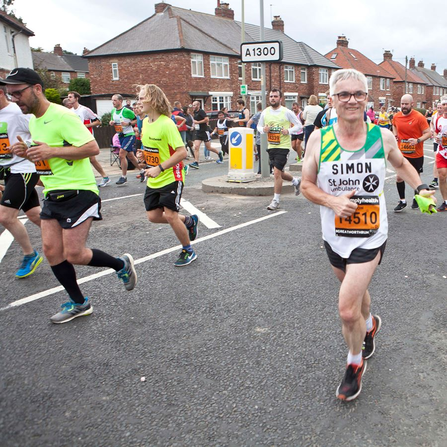 Runners in Great North Run