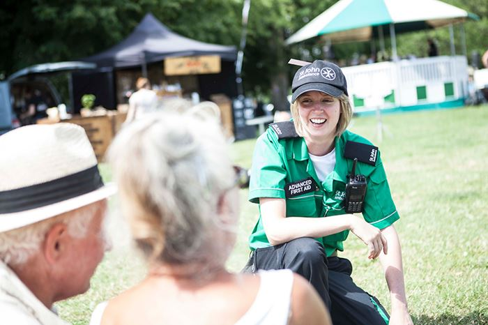 St John Ambulance volunteers providing support
