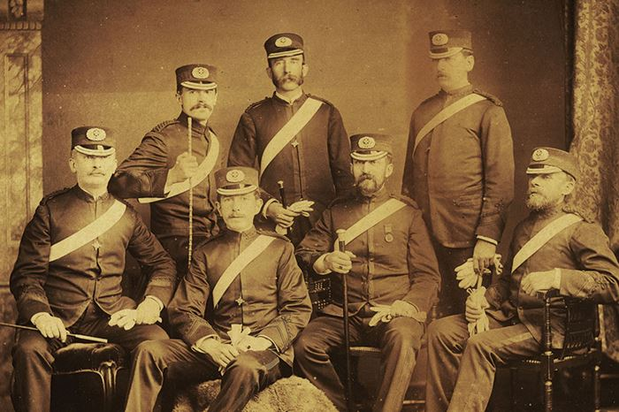 First officers of St John Ambulance brigade
