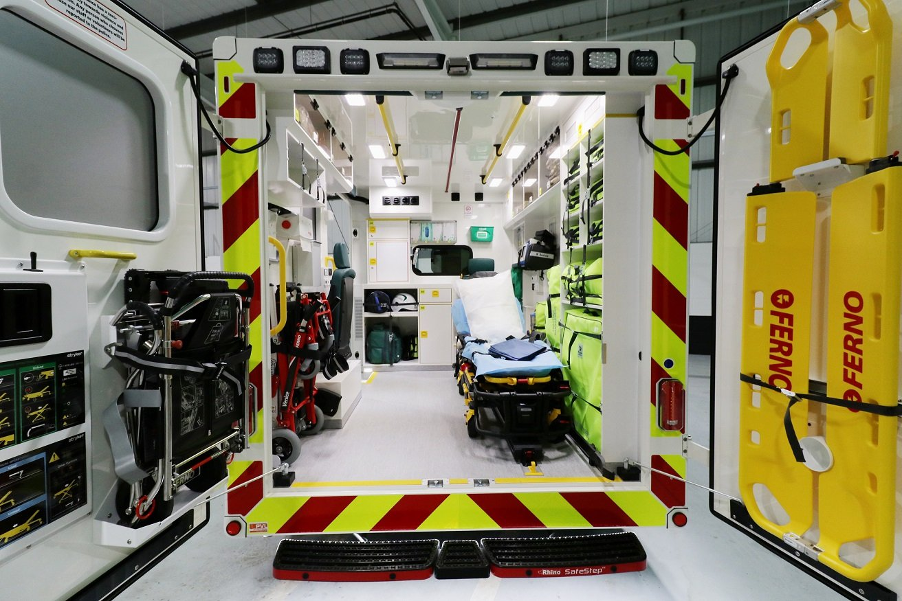 St John Ambulance new 'box-body' ambulance interior