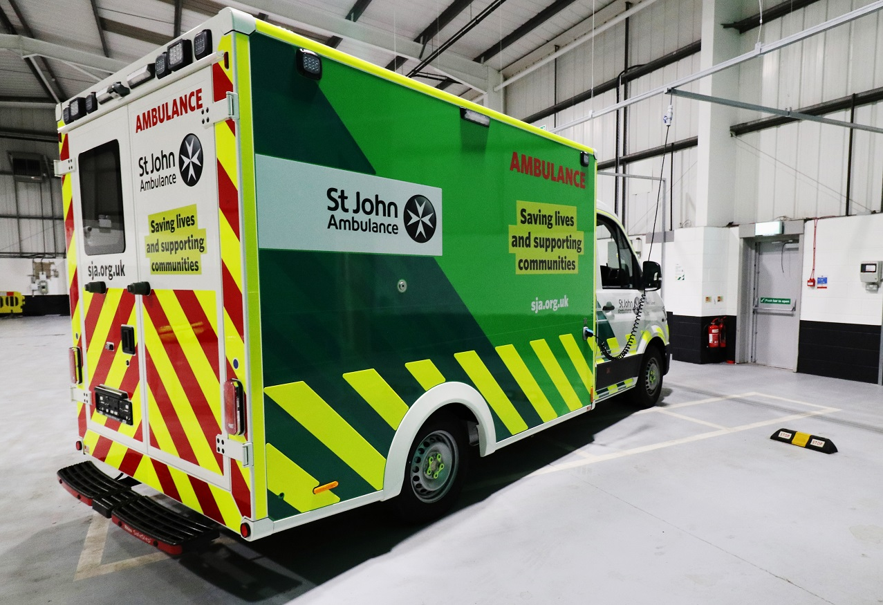St John Ambulance new 'box-body' ambulance
