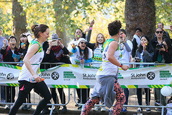St John Ambulance Royal Parks Half Marathon runners