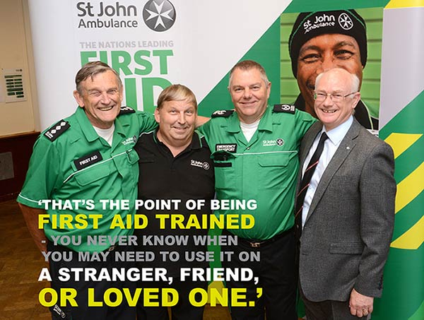 Steve Walker and his St John Ambulance colleagues