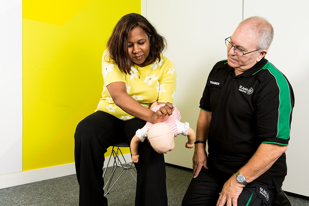 Delegate learning paediatric first aid