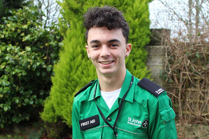 St John Ambulance cadet, Jay Fox.