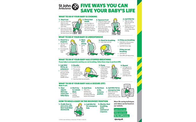 Five ways to save a baby's life poster