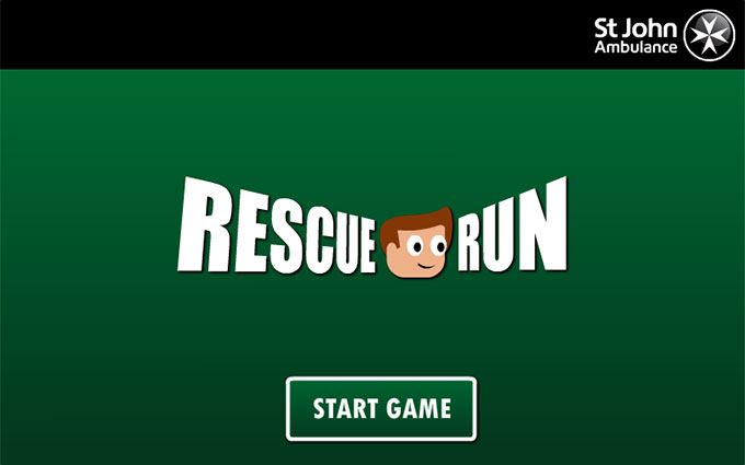 Rescue Run first aid game