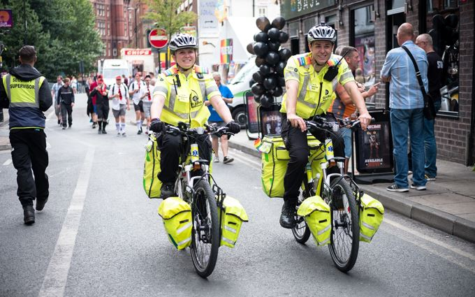 Cycle Responder at outdoor summer event