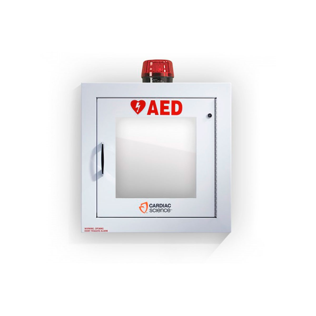 Cardiac Science™ Surface-Mount Defibrillator Wall Cabinet with Alarm and Strobe, Security Enabled