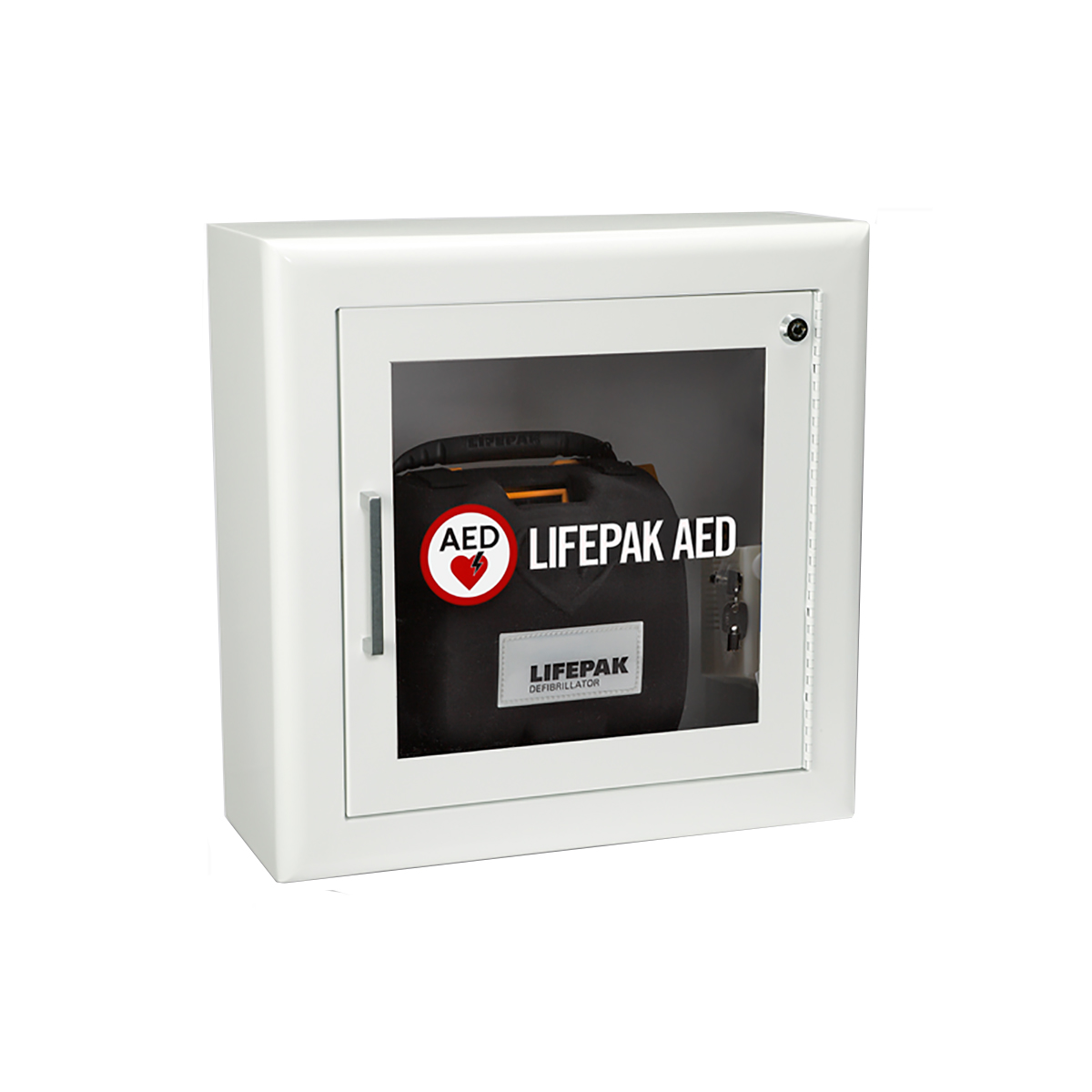 Physio-Control Lifepak® 1000 Surface Wall-Mount Defibrillator Cabinet
