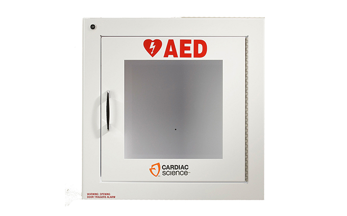 Cardiac Science™ Surface-Mount Defibrillator Wall Cabinet with Alarm Cardiac Science™ Surface-Mount Defibrillator Wall Cabinet with Alarm