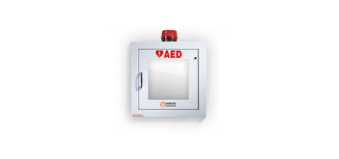 Cardiac Science™ Surface-Mount Defibrillator Wall Cabinet with Alarm and Strobe Light Cardiac Science™ Surface-Mount Defibrillator Wall Cabinet with Alarm and Strobe Light
