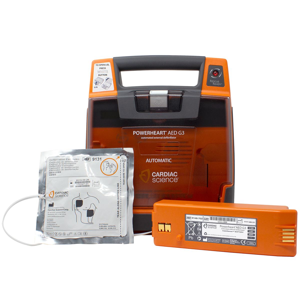Cardiac Science™ PowerHeart® G3 Elite Fully Automatic Defibrillator
