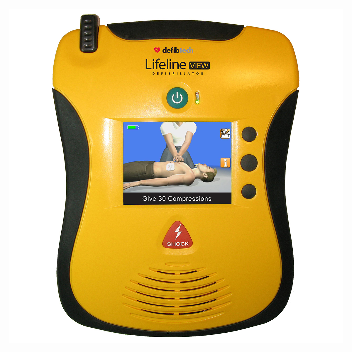 Lifeline View AED Semi-Automatic Defibrillator with Full Colour Display