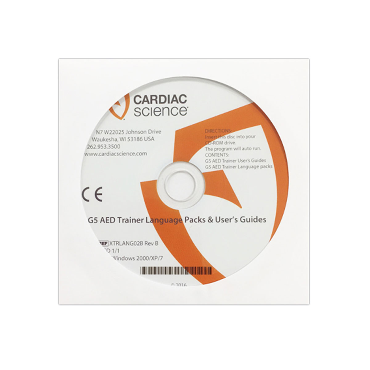 Cardiac Science™ Powerheart® G5 Trainer Language CD