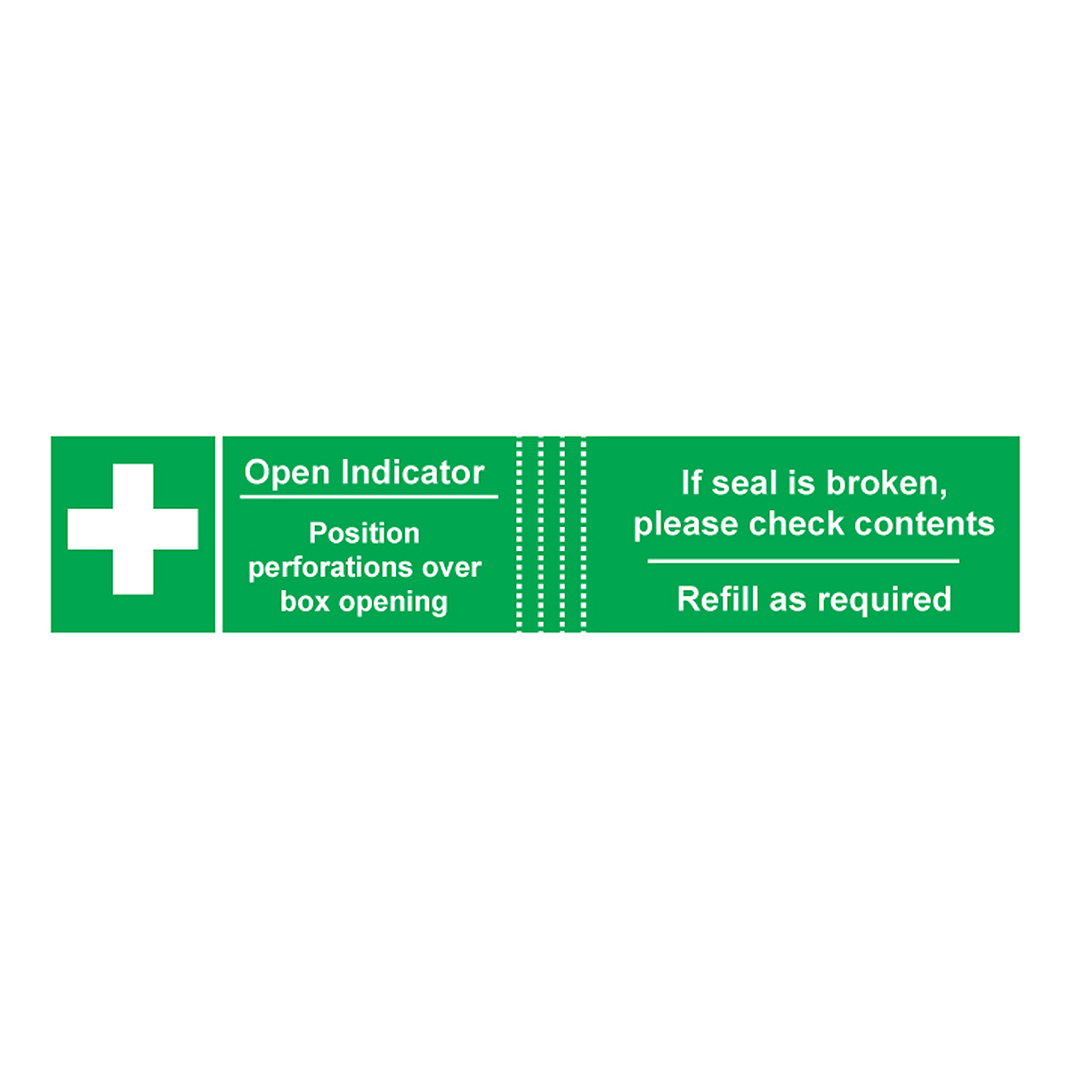 Pack of 50 Tamperproof Labels for First Aid Kits