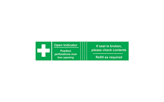 Pack of 50 Tamperproof Labels for First Aid Kits Pack of 50 Tamperproof Labels for First Aid Kits