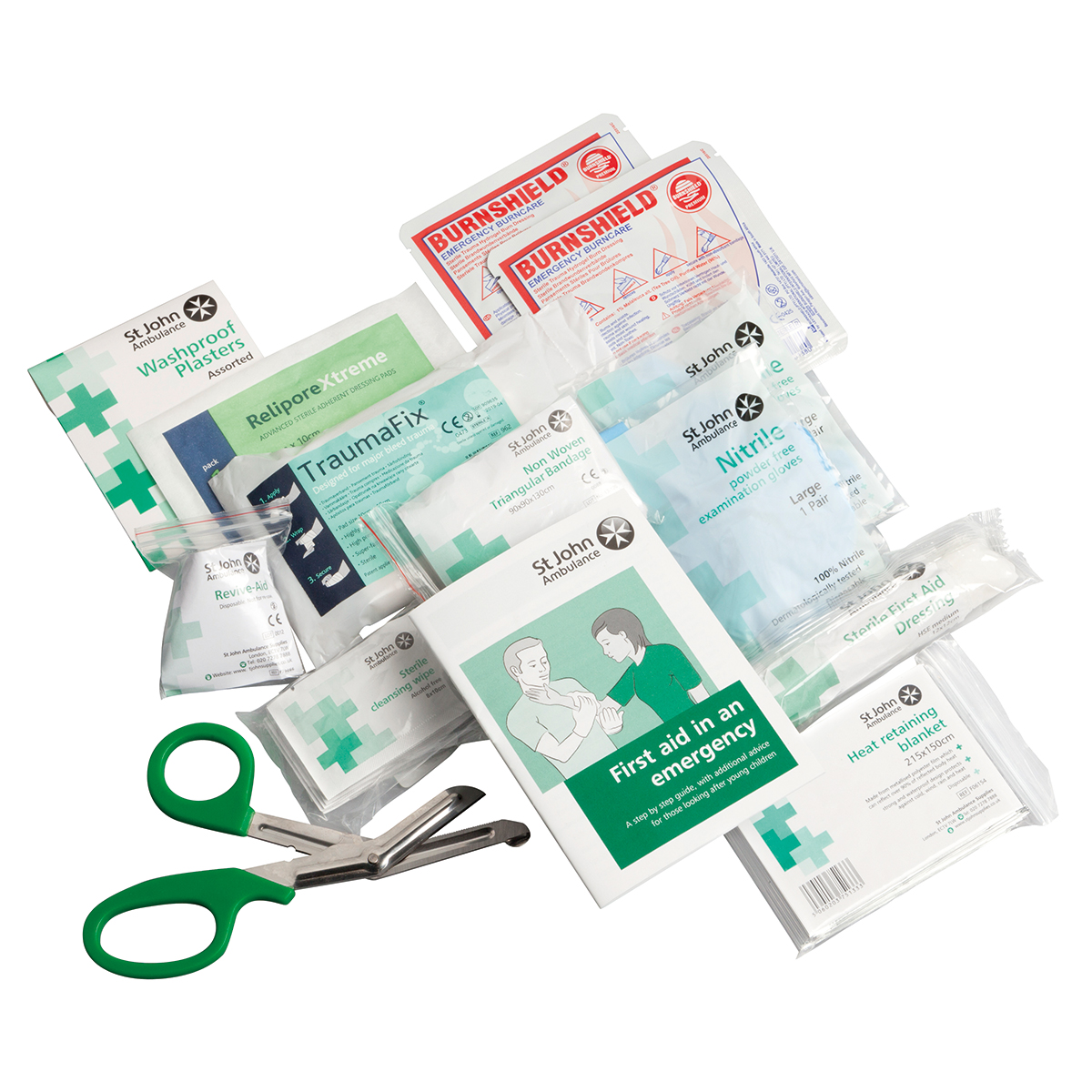 Medium Motor Vehicle First Aid Kit Refill