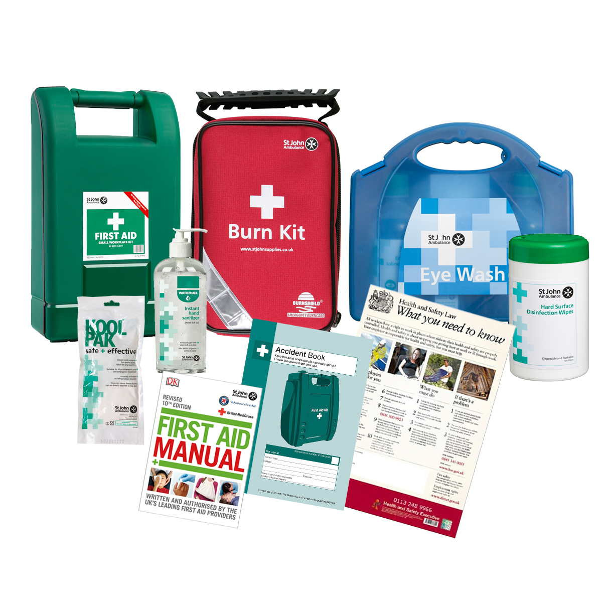 Basic Workplace First Aid Kit Bundle