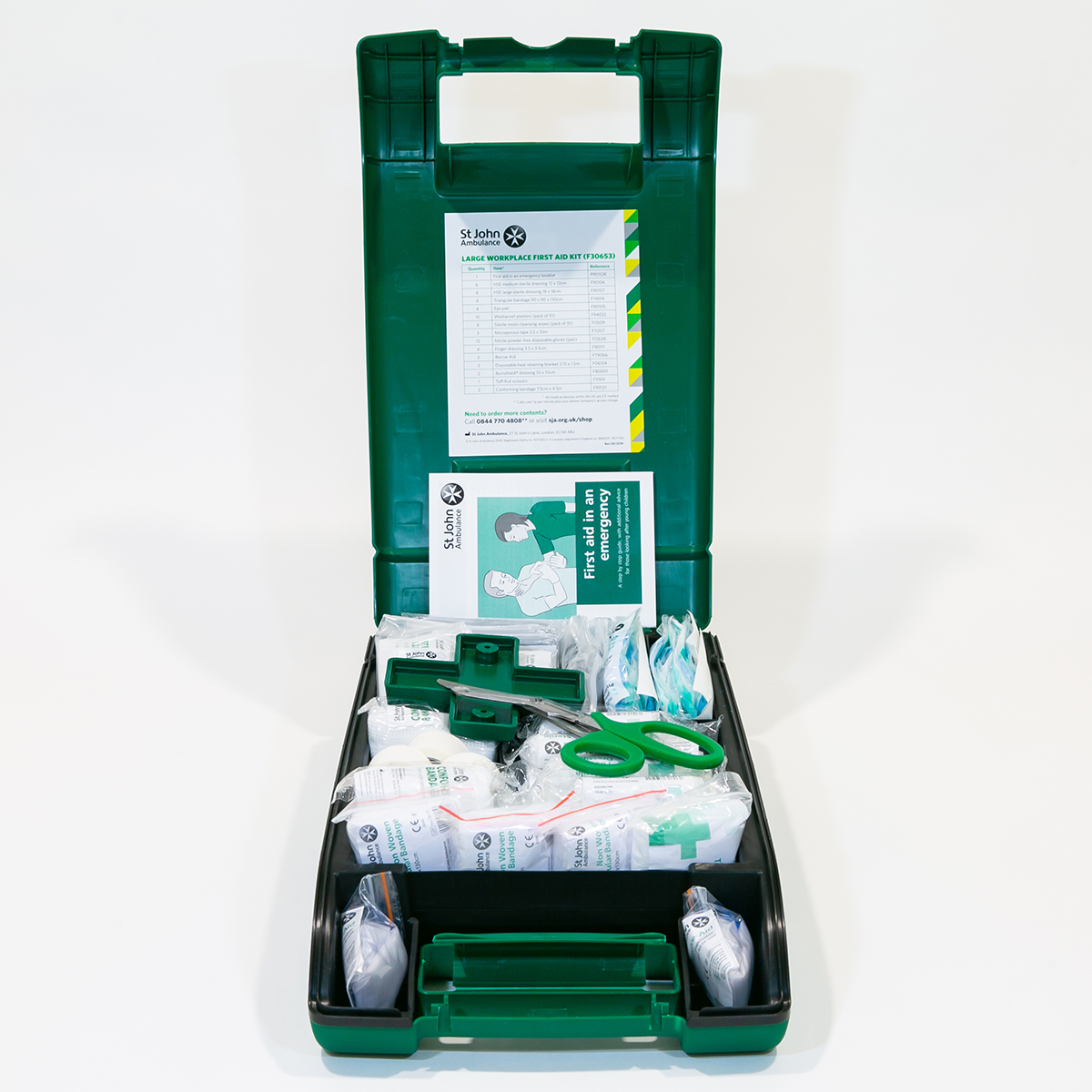 St John Ambulance Large Alpha Workplace First Aid Kit BS 8599-1:2019